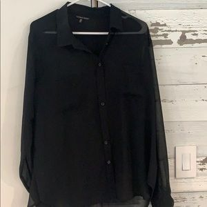 Large black button down